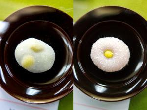 銀杏餅、雪餅(共に末富)