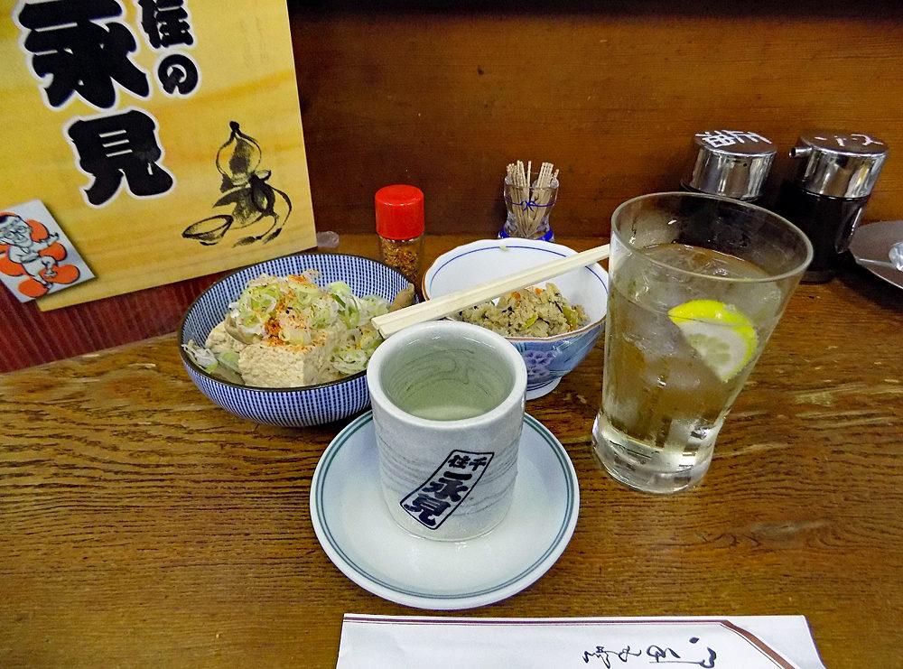 永見の、コップ酒¥240円は安い。