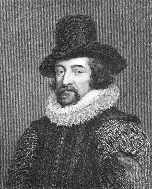 16~17世紀にかけての哲学者、政治家、神学者、法学者、科学者であるフランシス・ベーコン。