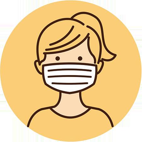 非常事態宣言や自粛要請が解除され、気の緩みからなのか、マスクをしていない人も多く見かけられる。呼気だけでも飛沫していることを忘れてはならない。