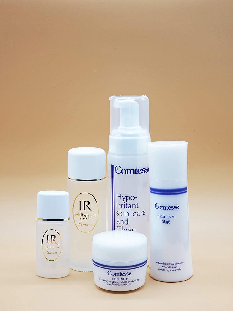 皮膚科専用化粧品「コンテス」。敏感肌の方をはじめ、治療中や痛んだお肌にも最適な「肌のおかゆシリーズ」もある。